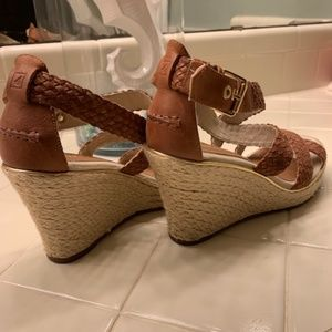 Sperry Shoes - Sperry Top Sider 8M  Braided Wedge Platform Sandal